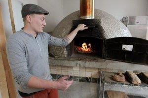 De steenoven waarin het brood van het Noordse Broodhuis gebakken werd.