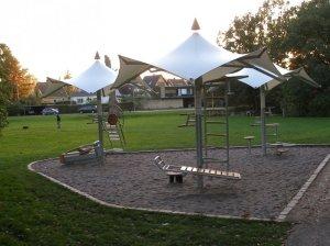 Een trainingsstation langs mijn hardlooproute rond Utterslev Mose.