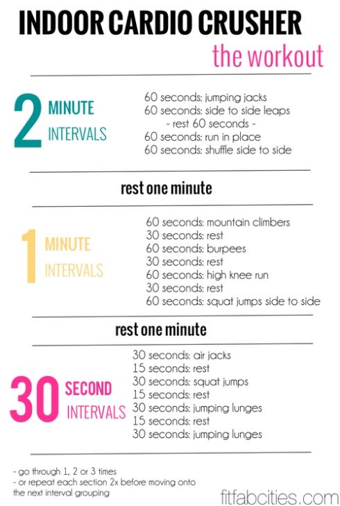 1 indoor workout