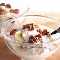 0 noten met kwark en banaan