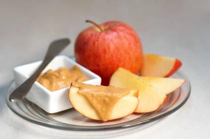 0 noten pindakaas op appel