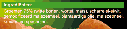 1 groentefriet ingredienten
