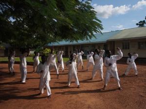 Oeganda groep meisjes trainen