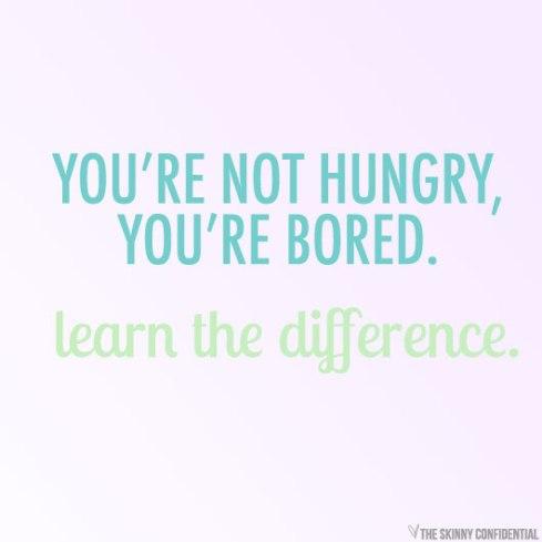 verveling is geen honger