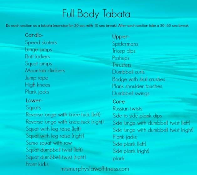 Full body Tabata   Fit voor het leven