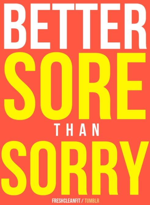 1 sore sorry