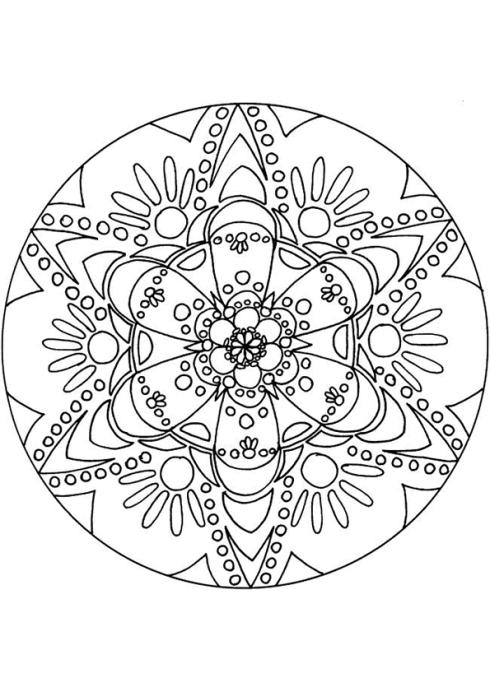 Het inkleuren van een mandela is sowieso al een meditatieve aangelegenheid, maar ondertussen een mantra opzeggen kan helpen helemaal op te gaan in het nu.