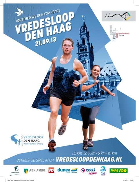 Poster Vredesloop Den Haag